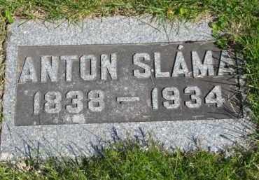 SLAMA, ANTON - Bon Homme County, South Dakota | ANTON SLAMA - South Dakota Gravestone Photos