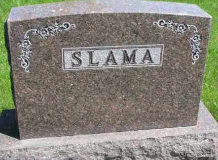 SLAMA, FAMILY STONE - Bon Homme County, South Dakota   FAMILY STONE SLAMA - South Dakota Gravestone Photos