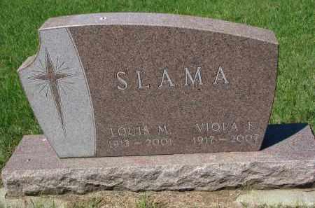 SLAMA, VIOLA F. - Bon Homme County, South Dakota   VIOLA F. SLAMA - South Dakota Gravestone Photos