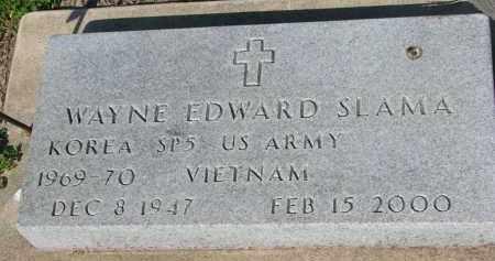 SLAMA, WAYNE EDWARD - Bon Homme County, South Dakota | WAYNE EDWARD SLAMA - South Dakota Gravestone Photos