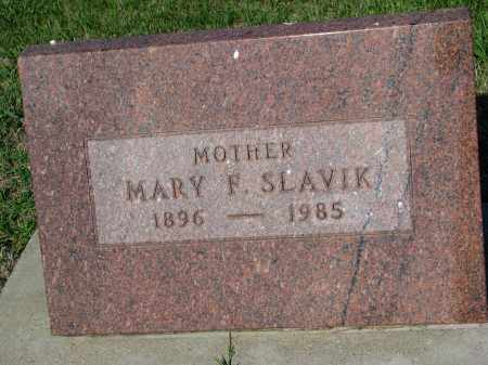 SLAVIK, MARY F. - Bon Homme County, South Dakota   MARY F. SLAVIK - South Dakota Gravestone Photos