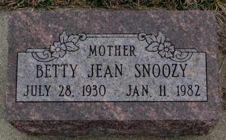 SNOOZY, BETTY JEAN - Bon Homme County, South Dakota | BETTY JEAN SNOOZY - South Dakota Gravestone Photos