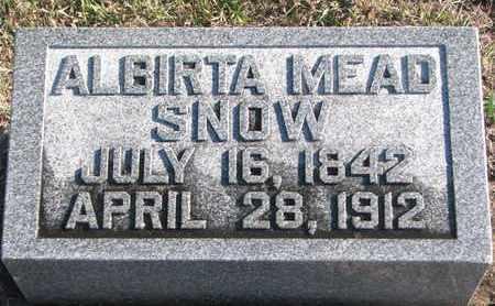 MEAD SNOW, ALBIRTA - Bon Homme County, South Dakota | ALBIRTA MEAD SNOW - South Dakota Gravestone Photos