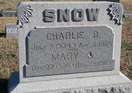 SNOW, CHARLIE D. - Bon Homme County, South Dakota | CHARLIE D. SNOW - South Dakota Gravestone Photos