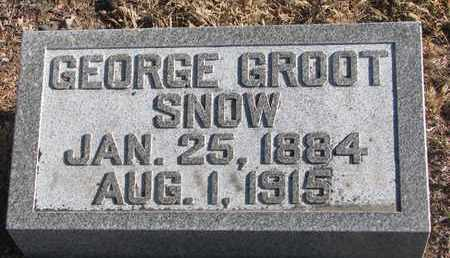 SNOW, GEORGE GROOT - Bon Homme County, South Dakota   GEORGE GROOT SNOW - South Dakota Gravestone Photos
