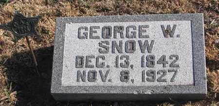 SNOW, GEORGE W. - Bon Homme County, South Dakota | GEORGE W. SNOW - South Dakota Gravestone Photos