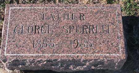SPURRELL, GEORGE - Bon Homme County, South Dakota   GEORGE SPURRELL - South Dakota Gravestone Photos