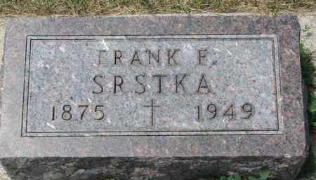 SRSTKA, FRANK F. - Bon Homme County, South Dakota | FRANK F. SRSTKA - South Dakota Gravestone Photos