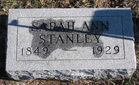 STANLEY, SARAH ANN - Bon Homme County, South Dakota   SARAH ANN STANLEY - South Dakota Gravestone Photos