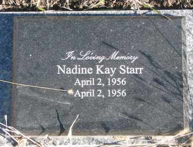 STARR, NADINE KAY - Bon Homme County, South Dakota | NADINE KAY STARR - South Dakota Gravestone Photos