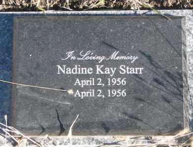 STARR, NADINE KAY - Bon Homme County, South Dakota | NADINE KAY STARR - South Dakota Gravestone Photos