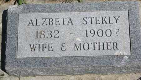 STEKLY, ALZBETA - Bon Homme County, South Dakota | ALZBETA STEKLY - South Dakota Gravestone Photos