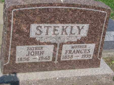 STEKLY, FRANCES - Bon Homme County, South Dakota | FRANCES STEKLY - South Dakota Gravestone Photos