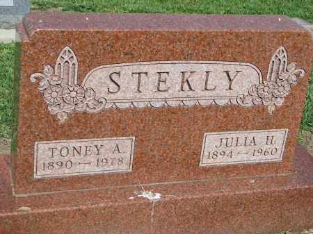 STEKLY, JULIA H. - Bon Homme County, South Dakota | JULIA H. STEKLY - South Dakota Gravestone Photos