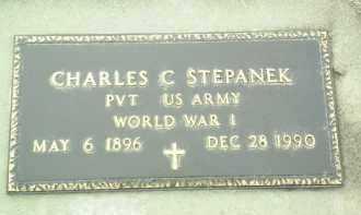 STEPANEK, CHARLES - Bon Homme County, South Dakota   CHARLES STEPANEK - South Dakota Gravestone Photos
