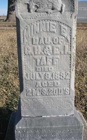 TAFF, MINNIE E. (CLOSEUP) - Bon Homme County, South Dakota   MINNIE E. (CLOSEUP) TAFF - South Dakota Gravestone Photos