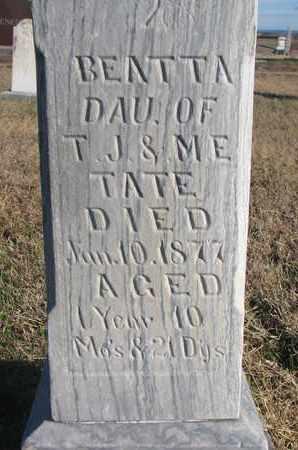 TATE, BEATTA (CLOSEUP) - Bon Homme County, South Dakota | BEATTA (CLOSEUP) TATE - South Dakota Gravestone Photos