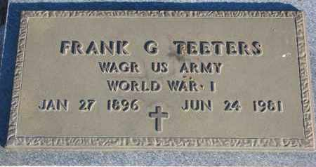 TEETERS, FRANK G. - Bon Homme County, South Dakota | FRANK G. TEETERS - South Dakota Gravestone Photos