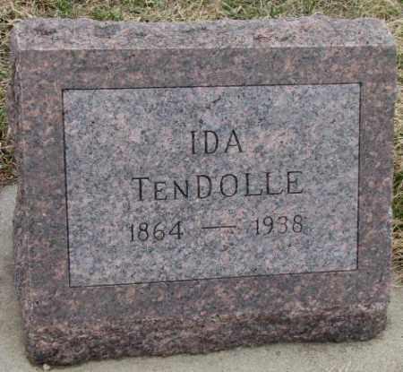 TENDOLLE, IDA - Bon Homme County, South Dakota | IDA TENDOLLE - South Dakota Gravestone Photos