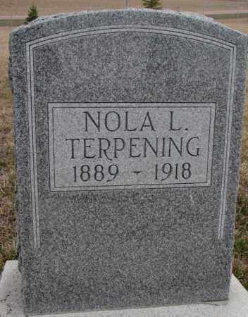TERPENING, NOLA L. - Bon Homme County, South Dakota | NOLA L. TERPENING - South Dakota Gravestone Photos