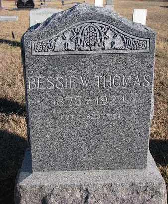 THOMAS, BESSIE W. - Bon Homme County, South Dakota | BESSIE W. THOMAS - South Dakota Gravestone Photos