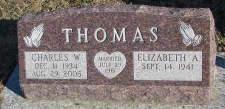 THOMAS, ELIZABETH A. - Bon Homme County, South Dakota | ELIZABETH A. THOMAS - South Dakota Gravestone Photos