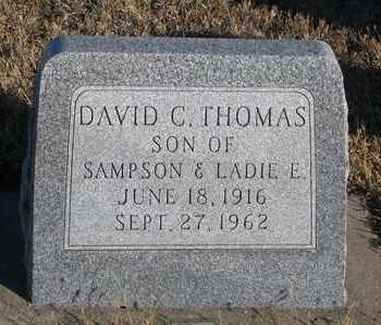 THOMAS, DAVID C. - Bon Homme County, South Dakota | DAVID C. THOMAS - South Dakota Gravestone Photos