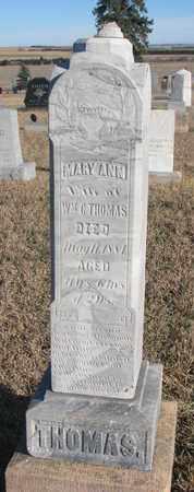 THOMAS, MARY ANN - Bon Homme County, South Dakota | MARY ANN THOMAS - South Dakota Gravestone Photos