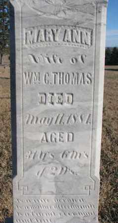 THOMAS, MARY ANN (CLOSEUP) - Bon Homme County, South Dakota | MARY ANN (CLOSEUP) THOMAS - South Dakota Gravestone Photos