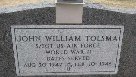 TOLSMA, JOHN WILLIAM - Bon Homme County, South Dakota | JOHN WILLIAM TOLSMA - South Dakota Gravestone Photos