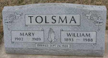TOLSMA, WILLIAM - Bon Homme County, South Dakota | WILLIAM TOLSMA - South Dakota Gravestone Photos