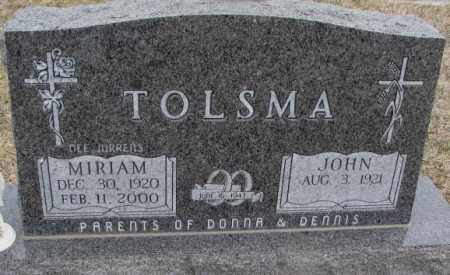 JURRENS TOLSMA, MIRIAM - Bon Homme County, South Dakota | MIRIAM JURRENS TOLSMA - South Dakota Gravestone Photos