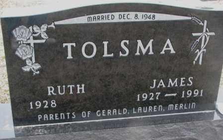 TOLSMA, JAMES - Bon Homme County, South Dakota | JAMES TOLSMA - South Dakota Gravestone Photos