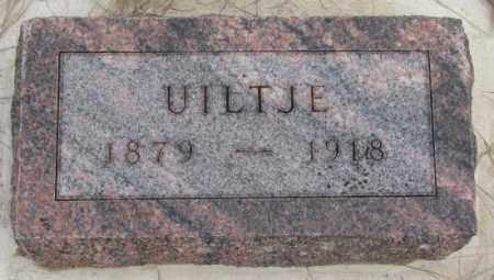 TOLSMA, UILTJE - Bon Homme County, South Dakota | UILTJE TOLSMA - South Dakota Gravestone Photos
