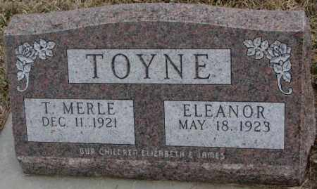 TOYNE, T. MERLE - Bon Homme County, South Dakota | T. MERLE TOYNE - South Dakota Gravestone Photos