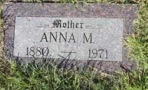 TUFFS, ANNA M. - Bon Homme County, South Dakota | ANNA M. TUFFS - South Dakota Gravestone Photos