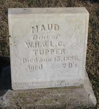 TUPPER, MAUD - Bon Homme County, South Dakota | MAUD TUPPER - South Dakota Gravestone Photos