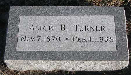 TURNER, ALICE B. - Bon Homme County, South Dakota | ALICE B. TURNER - South Dakota Gravestone Photos