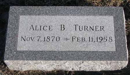 TURNER, ALICE B. - Bon Homme County, South Dakota | ALICE B. TURNER - South Dakota Gravestone Photos