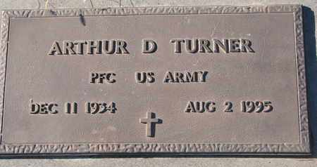TURNER, ARTHUR D. (MILITARY) - Bon Homme County, South Dakota | ARTHUR D. (MILITARY) TURNER - South Dakota Gravestone Photos