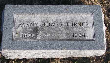 HOWES TURNER, FANNY - Bon Homme County, South Dakota | FANNY HOWES TURNER - South Dakota Gravestone Photos