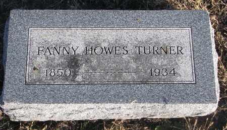TURNER, FANNY - Bon Homme County, South Dakota | FANNY TURNER - South Dakota Gravestone Photos