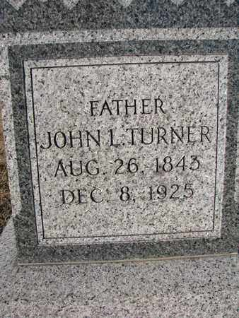 TURNER, JOHN L. (CLOSEUP) - Bon Homme County, South Dakota | JOHN L. (CLOSEUP) TURNER - South Dakota Gravestone Photos