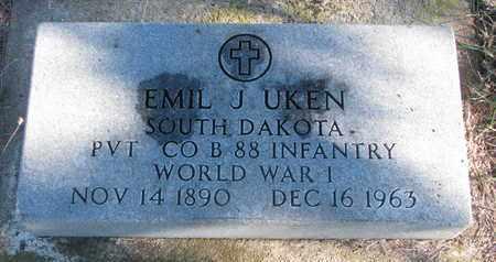 UKEN, EMIL J. - Bon Homme County, South Dakota | EMIL J. UKEN - South Dakota Gravestone Photos