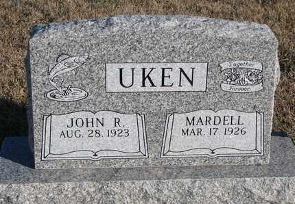 UKEN, JOHN R. - Bon Homme County, South Dakota   JOHN R. UKEN - South Dakota Gravestone Photos