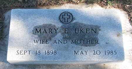 UKEN, MARY E. - Bon Homme County, South Dakota   MARY E. UKEN - South Dakota Gravestone Photos