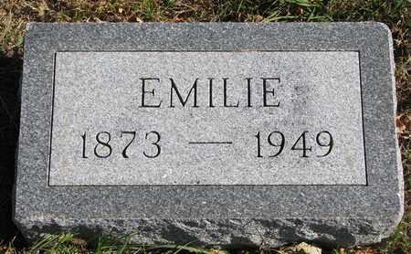 UNKNOWN, EMILIE - Bon Homme County, South Dakota | EMILIE UNKNOWN - South Dakota Gravestone Photos