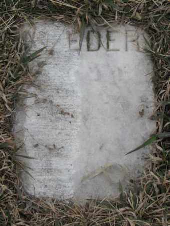 UNKNOWN, EDER - Bon Homme County, South Dakota | EDER UNKNOWN - South Dakota Gravestone Photos
