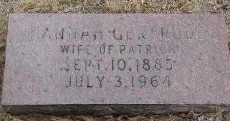 UNKNOWN, HANNAH GERTRUDE - Bon Homme County, South Dakota | HANNAH GERTRUDE UNKNOWN - South Dakota Gravestone Photos