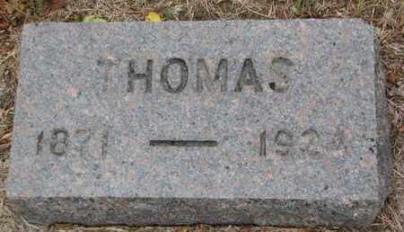 UNKNOWN, THOMAS - Bon Homme County, South Dakota   THOMAS UNKNOWN - South Dakota Gravestone Photos